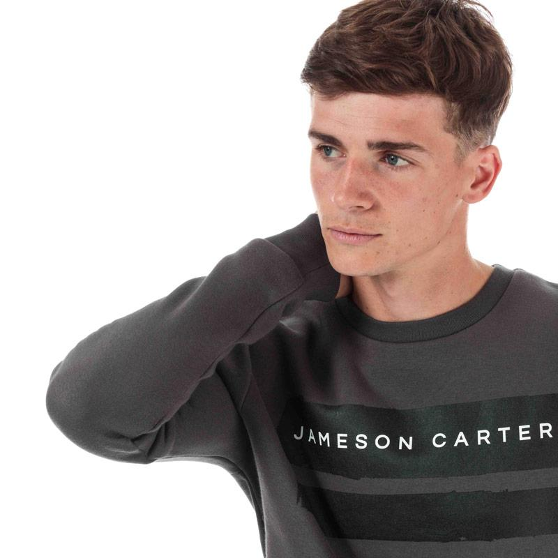 Mikina Jameson Carter Mens Paint Stripe Crew Sweatshirt Charcoal
