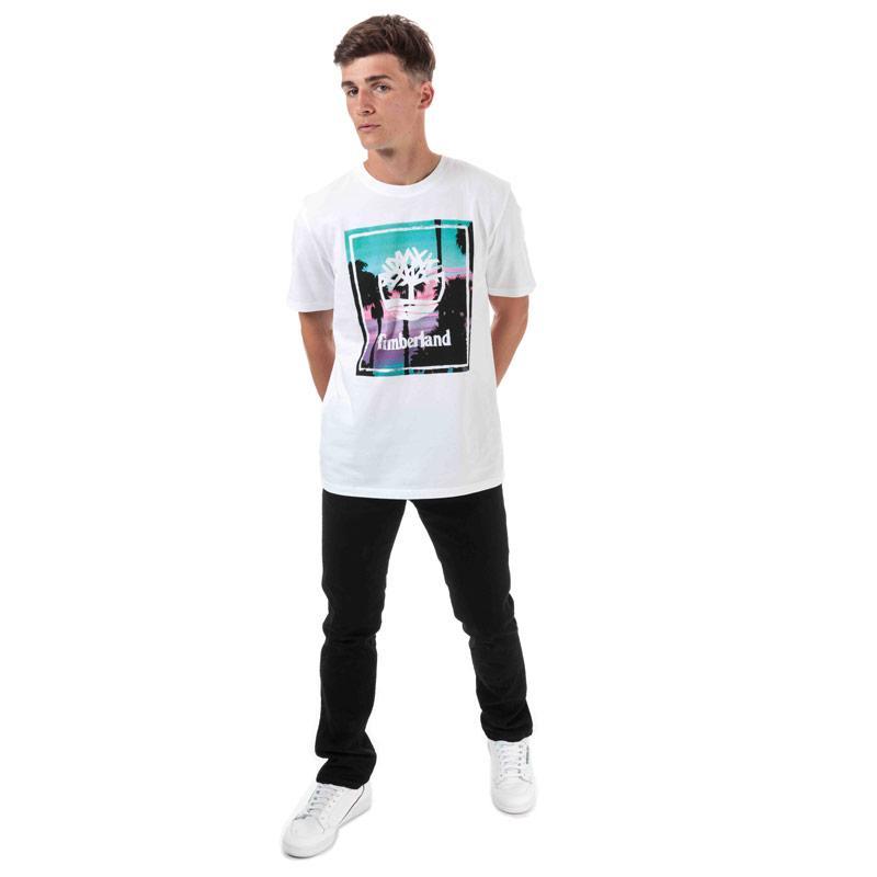 Tričko Timberland Mens Photo Beach T-Shirt White