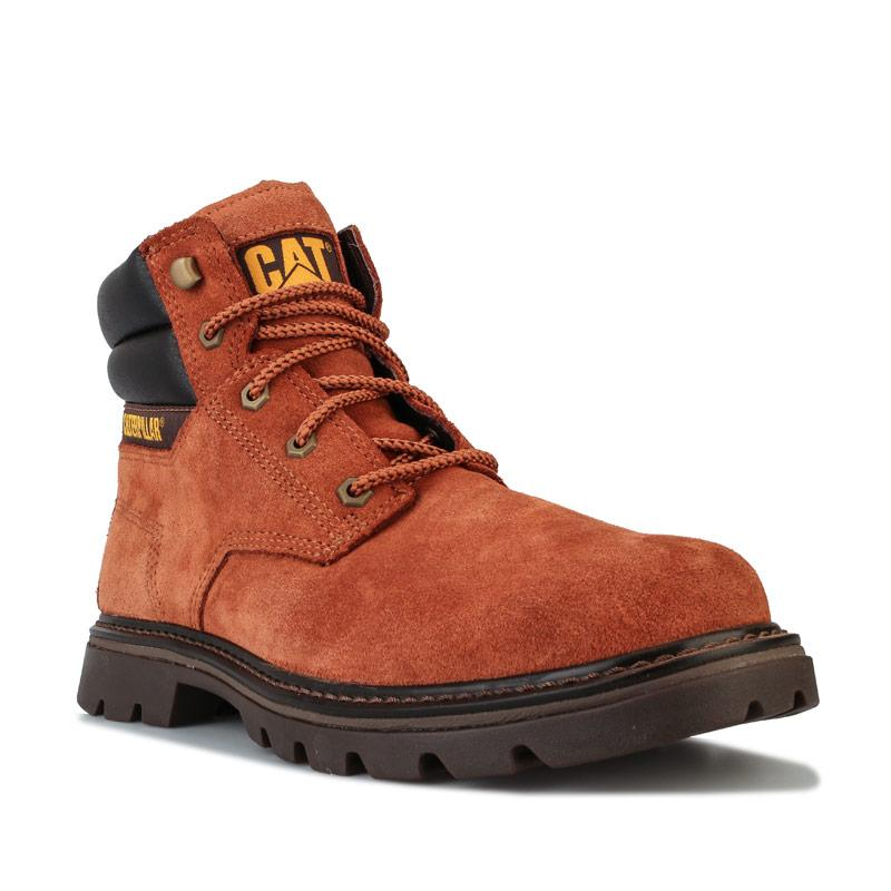 Boty Caterpillar Mens Quadrate Boots Brown