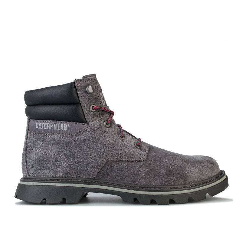 Boty Caterpillar Mens Quadrate Boots Grey