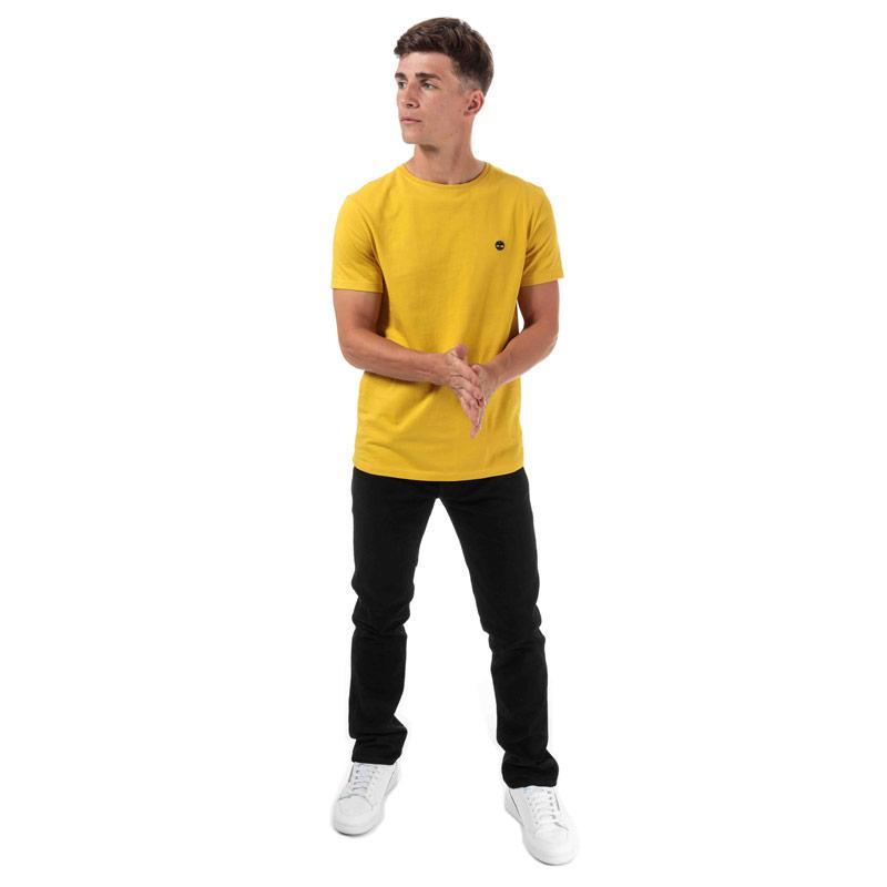 Tričko Timberland Mens TFO Logo Slim T-Shirt Yellow