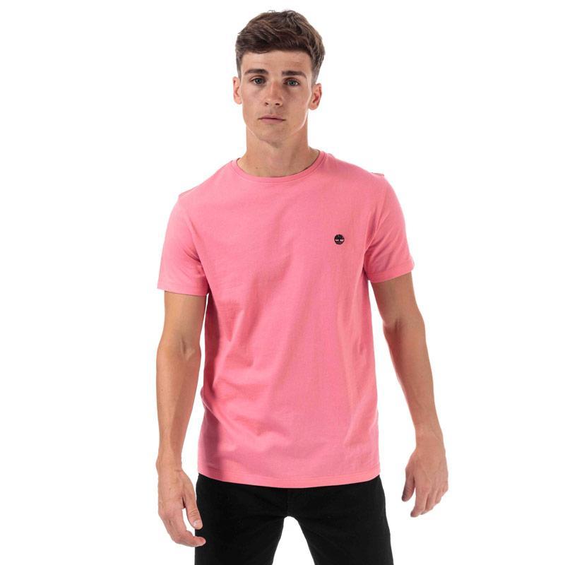 Tričko Timberland Mens TFO Logo Slim T-Shirt Pink