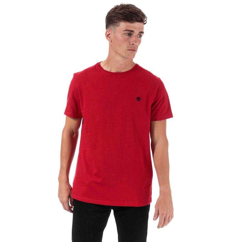 Tričko Timberland Mens TFO Logo Slim T-Shirt Red