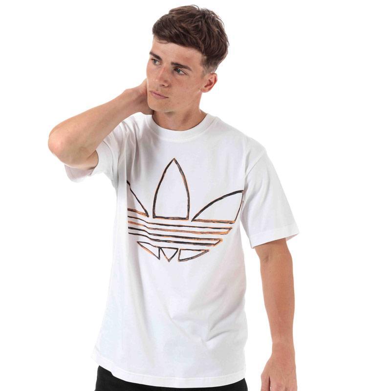 Tričko Adidas Originals Mens Watercolor T-Shirt White