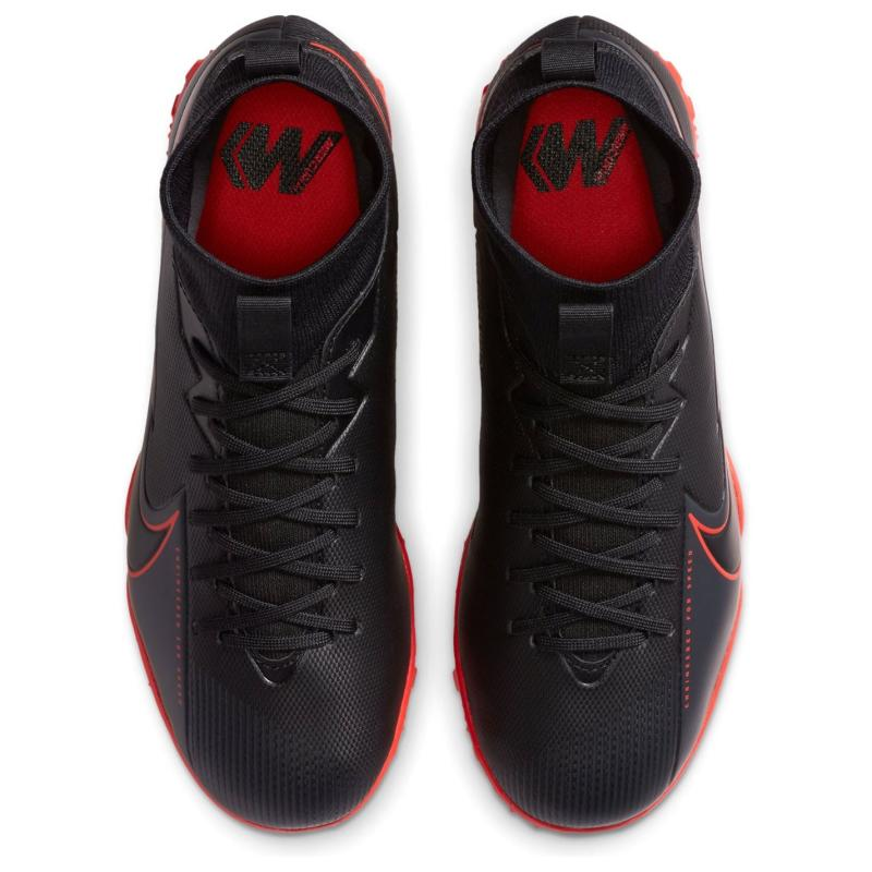 Nike Mercurial Superfly Academy DF Junior Astro Turf Trainers BLACK/BLACK-DK SMOKE GREY