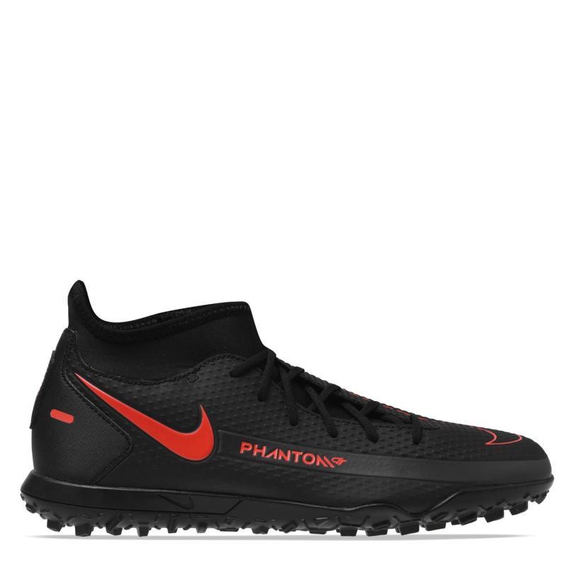 Nike Phantom GT Club DF Junior Astro Turf Trainers BLACK/CHILE RED-DK SMOKE GREY