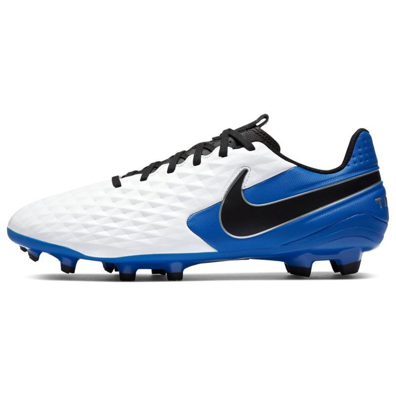 Nike Tiempo Legend Academy Mens FG Football Boots WHITE/BLACK-HYPER ROYAL-METALL