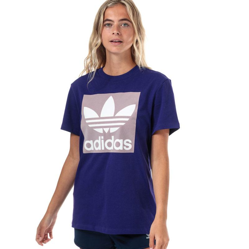 Adidas Originals Womens Boyfriend T-Shirt Purple