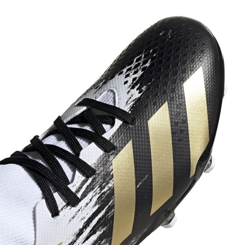 Adidas Predator 20.3 Childrens FG Football Boots White/MetGold