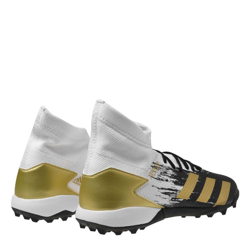 Adidas Predator 20.3 Mens Astro Turf Trainers White/MetGold