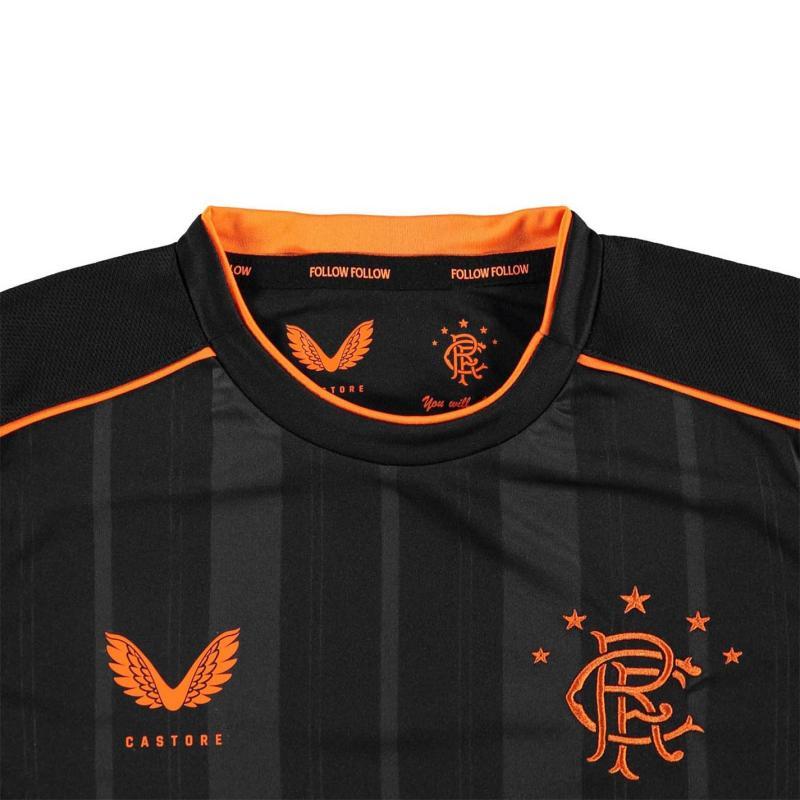 Castore Rangers Long Sleeve Third Shirt 2020 2021 Junior Black