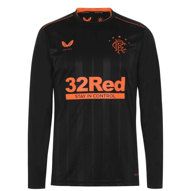 Castore Rangers Long Sleeve Third Shirt 2020 2021 Black