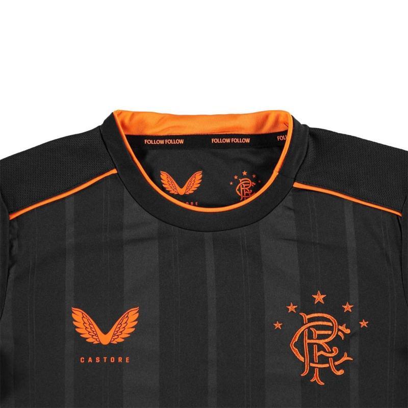 Castore Rangers Third Shirt 2020 2021 Junior Black