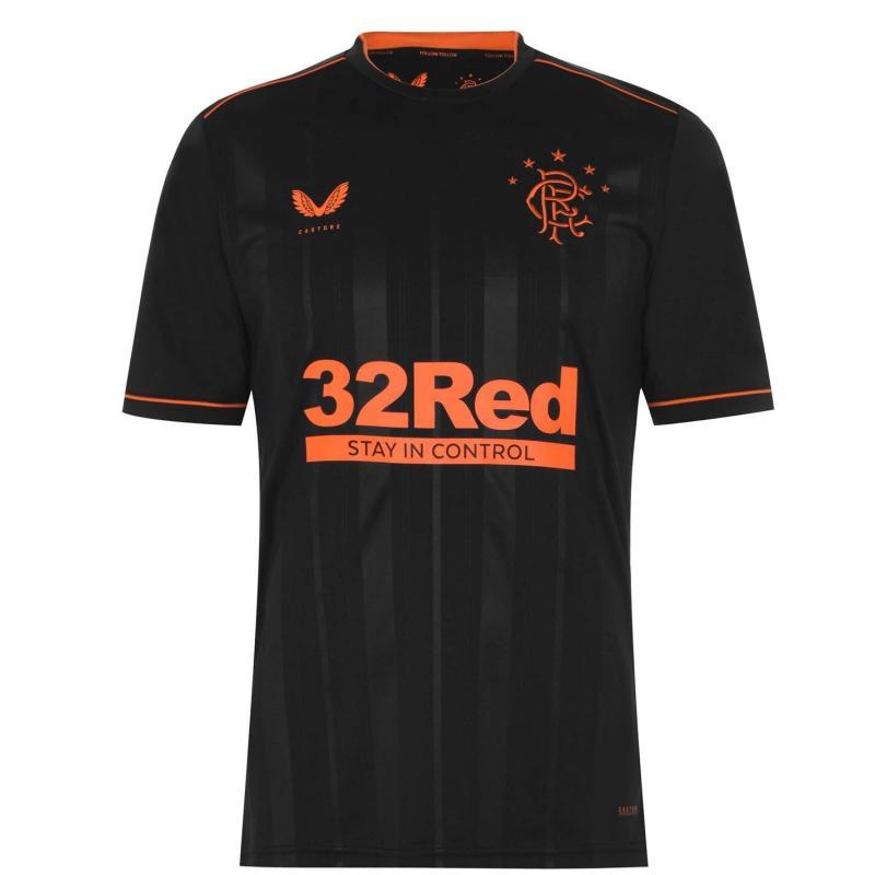 Castore Rangers Third Shirt 2020 2021 Black