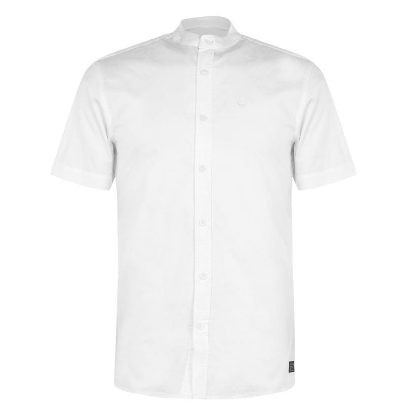 Firetrap Grandad Collar Shirt Mens White