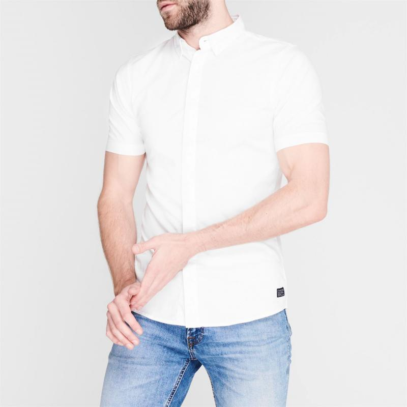 Firetrap Short Sleeve Muscle Shirt Mens White