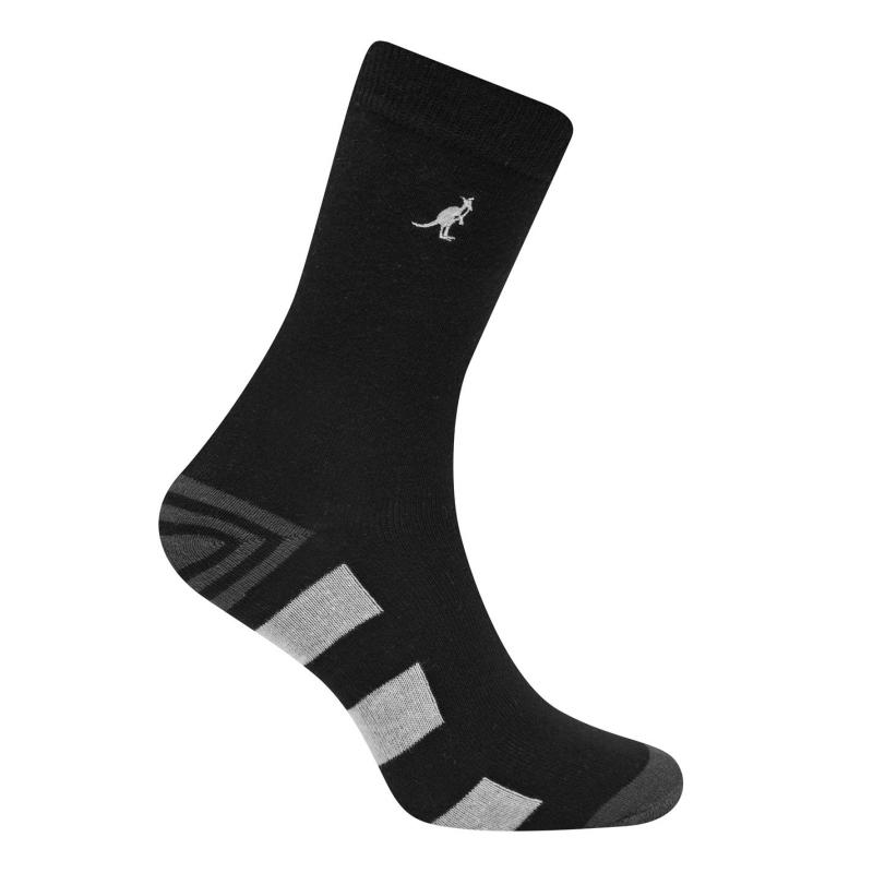 Ponožky Kangol Formal Socks 7 Pack Ladies Black Pattern