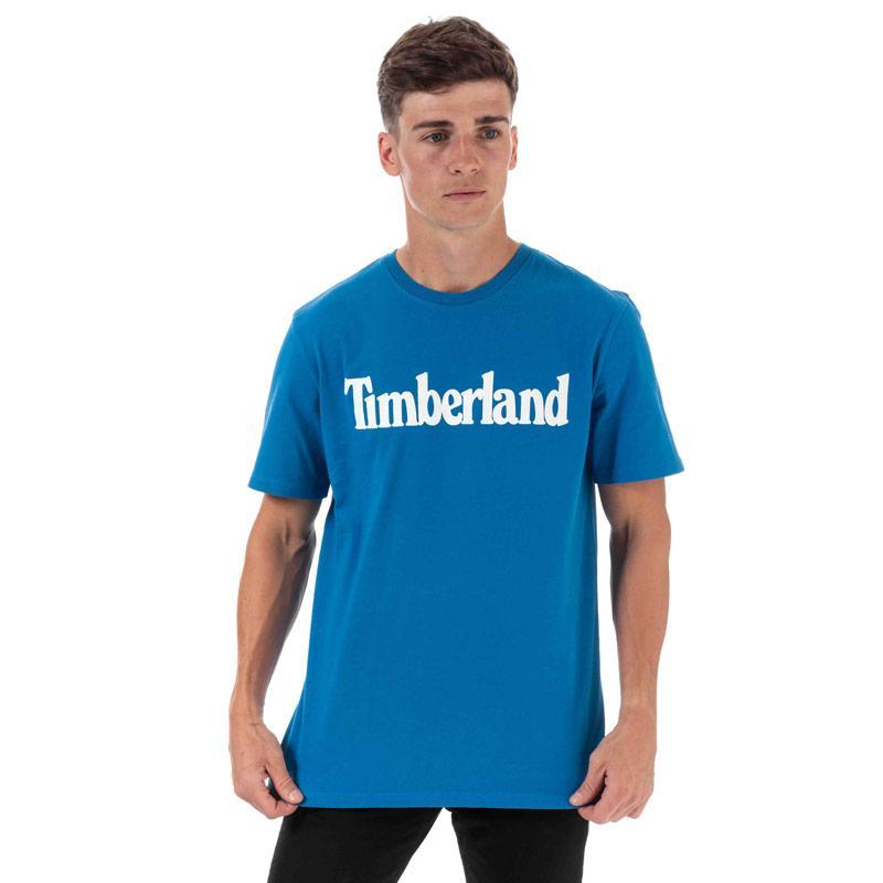 Tričko Timberland Mens Kennebec River Brand T-Shirt Blue