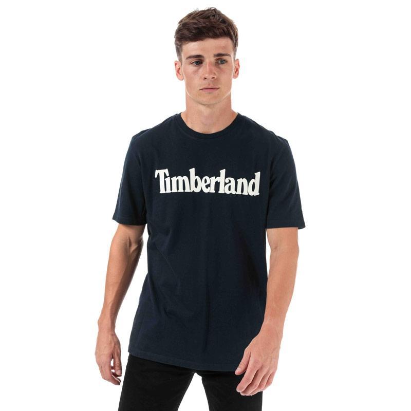 Tričko Timberland Mens Kennebec River Brand T-Shirt Navy