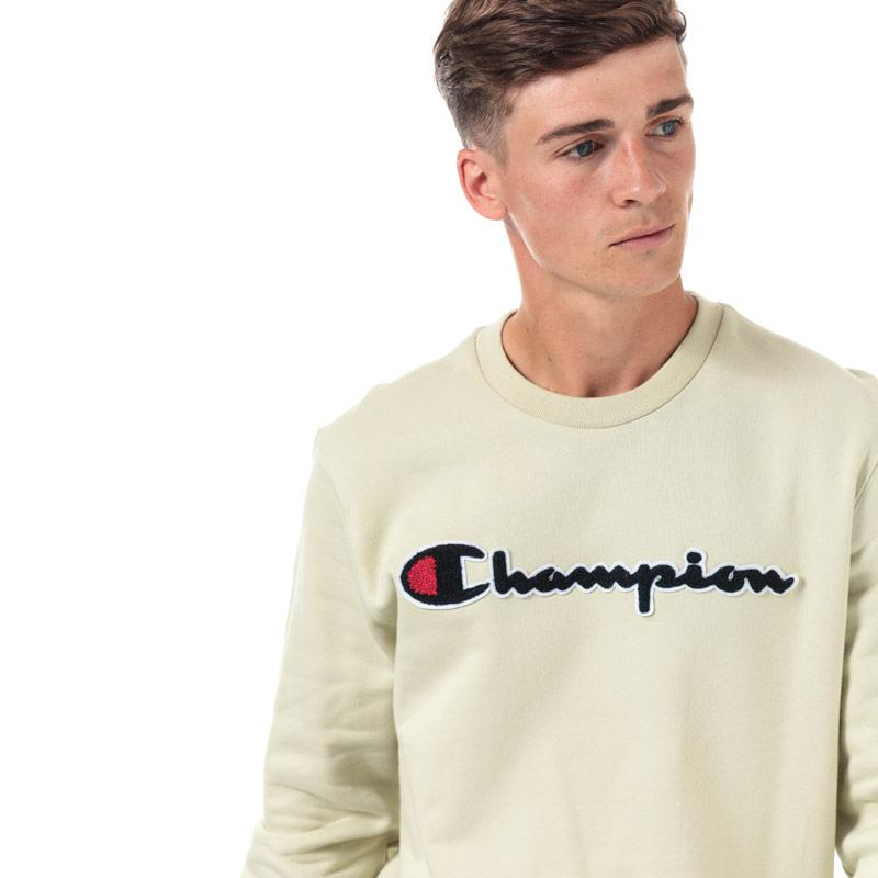 Mikina Champion Mens Large Logo Sweatshirt Green