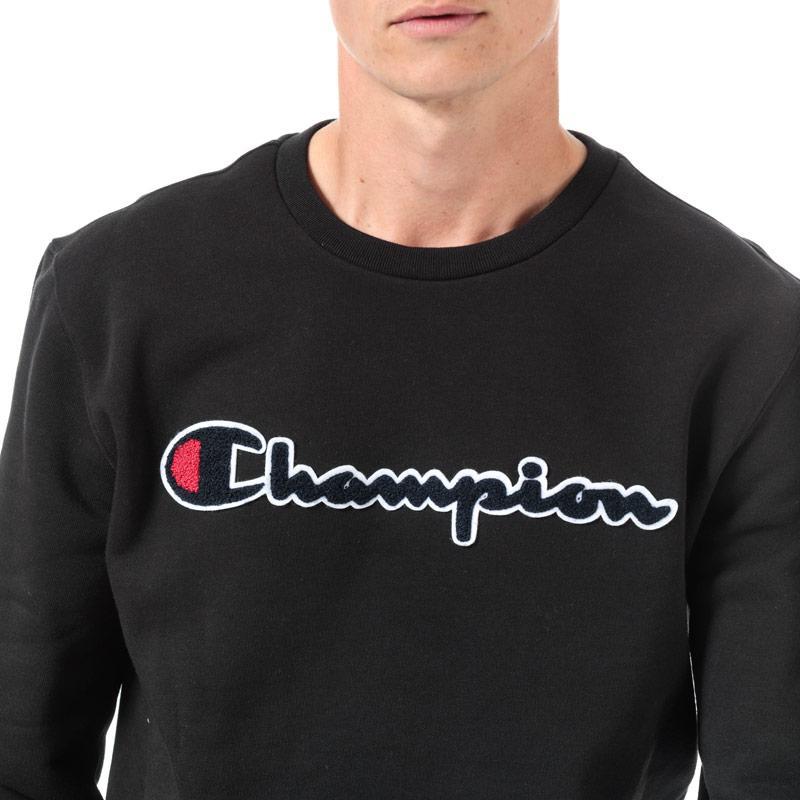 Mikina Champion Mens Large Logo Sweatshirt Black