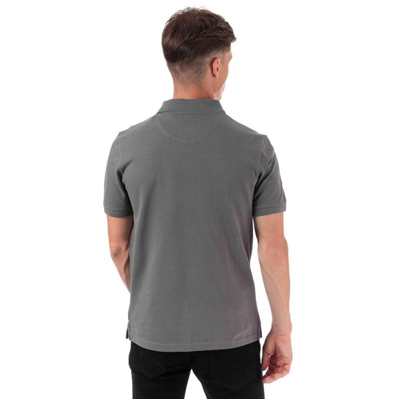 Timberland Mens Miller Rivers Jaquard Polo Shirt Grey