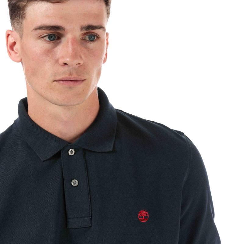 Timberland Mens Miller Rivers Polo Shirt Navy