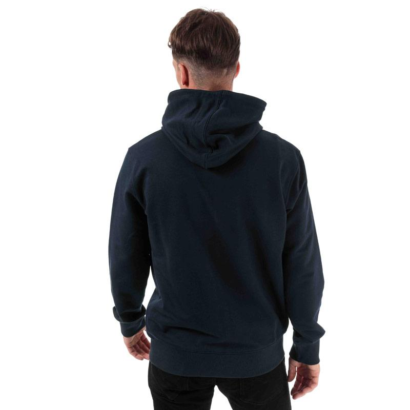 Mikina Timberland Mens OR Flock Logo Zip Hoody Navy