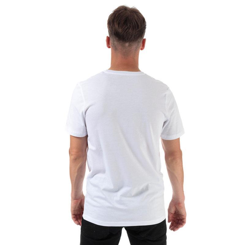 Tričko Jack Jones Mens Splash Corp Logo T-Shirt White