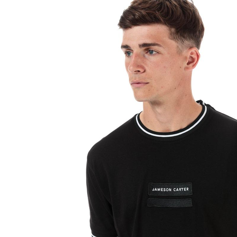 Tričko Jameson Carter Mens Tuscan T-Shirt Black