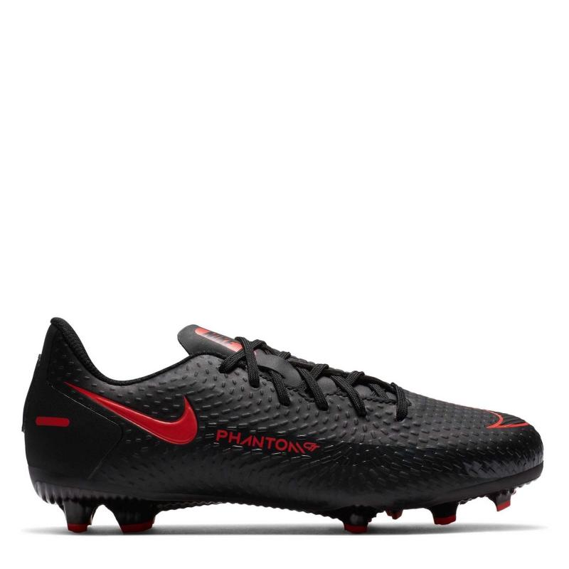 Nike Phantom GT Academy Junior FG Football Boots Black/ChileRed