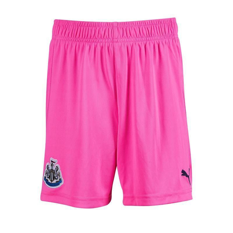 Puma Newcastle United Goalkeeper Shorts 2020 2021 Junior Pink Glimmer