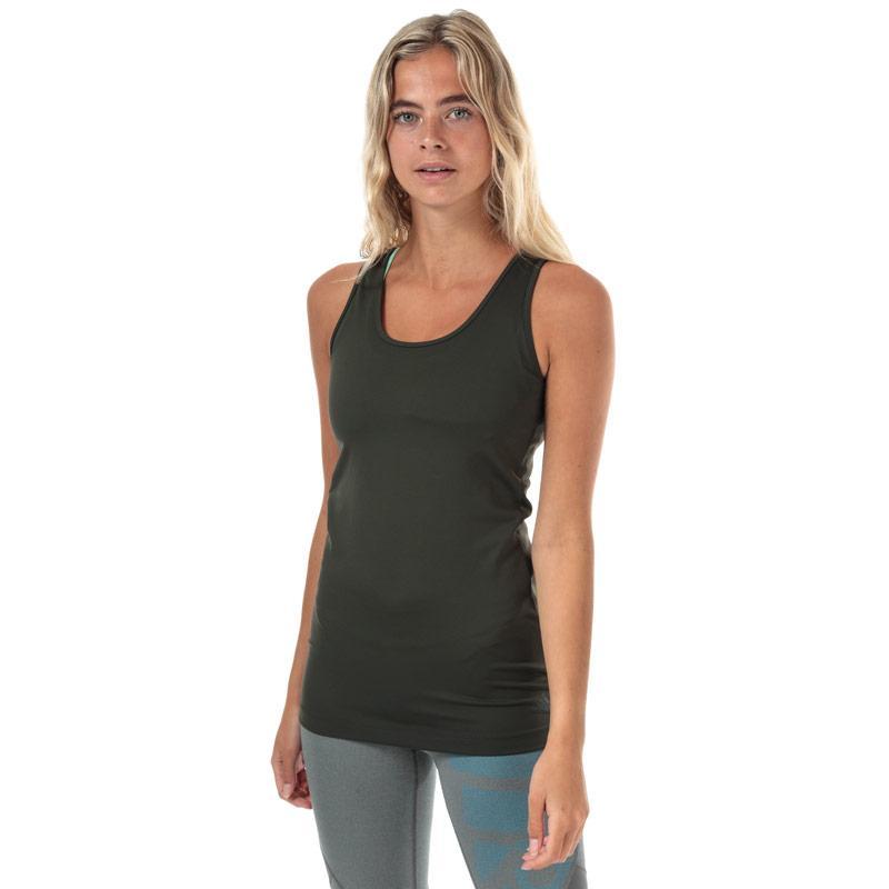 Womens adidas x Universal Standard Long Top olive