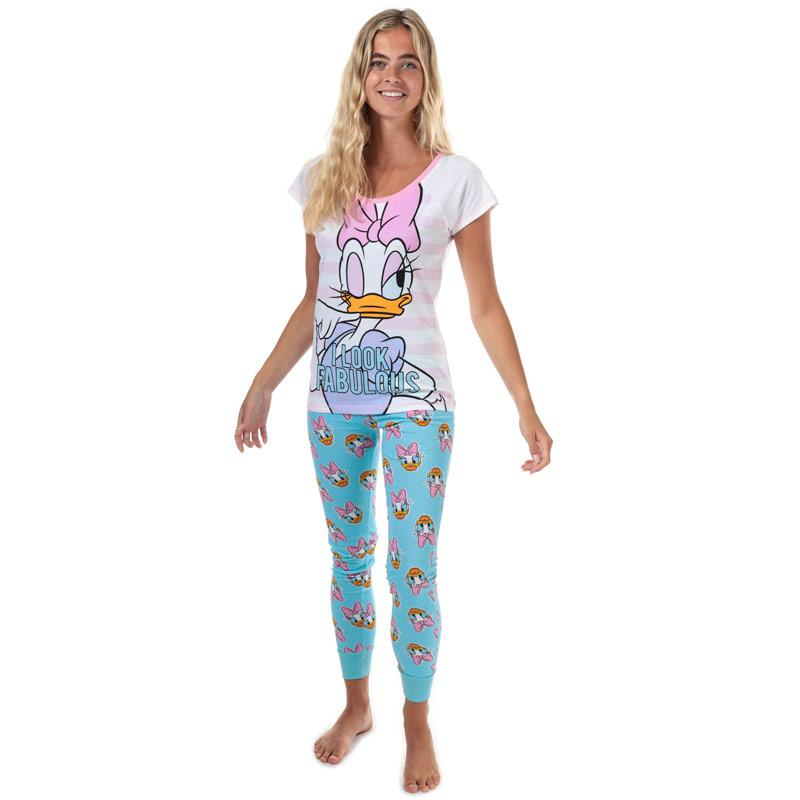 Pyžama Disney Womens Daisy Duck Pyjamas White blue