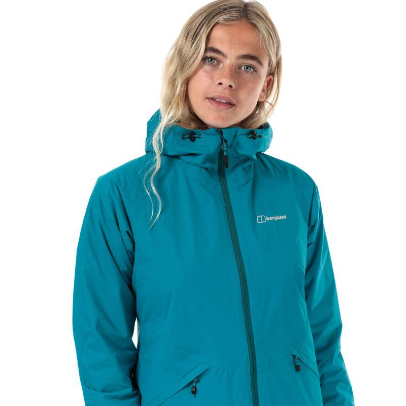 Berghaus Womens Deluge Pro Insulated Waterproof Jacket Turquoise