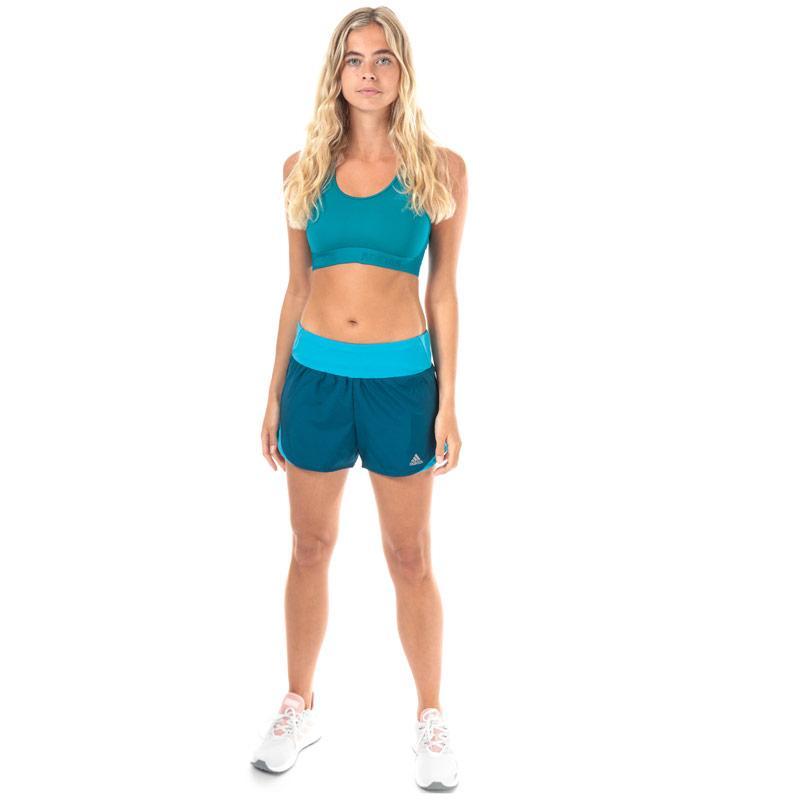 Adidas Womens Don't Rest Alphaskin Sports Bra Teal