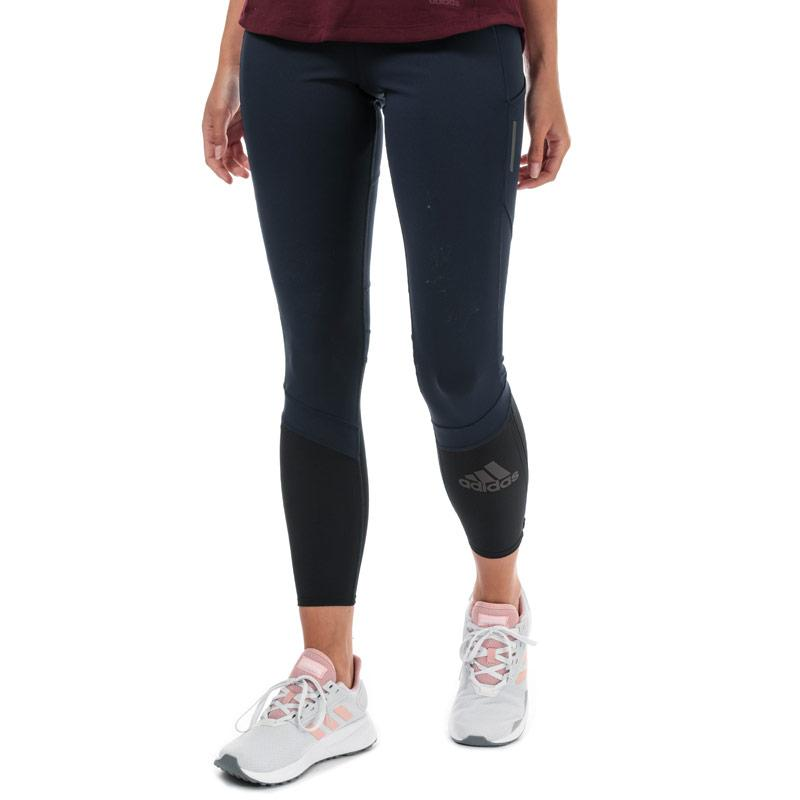 Adidas Womens How We Do Rise Up N Run Leggings Navy