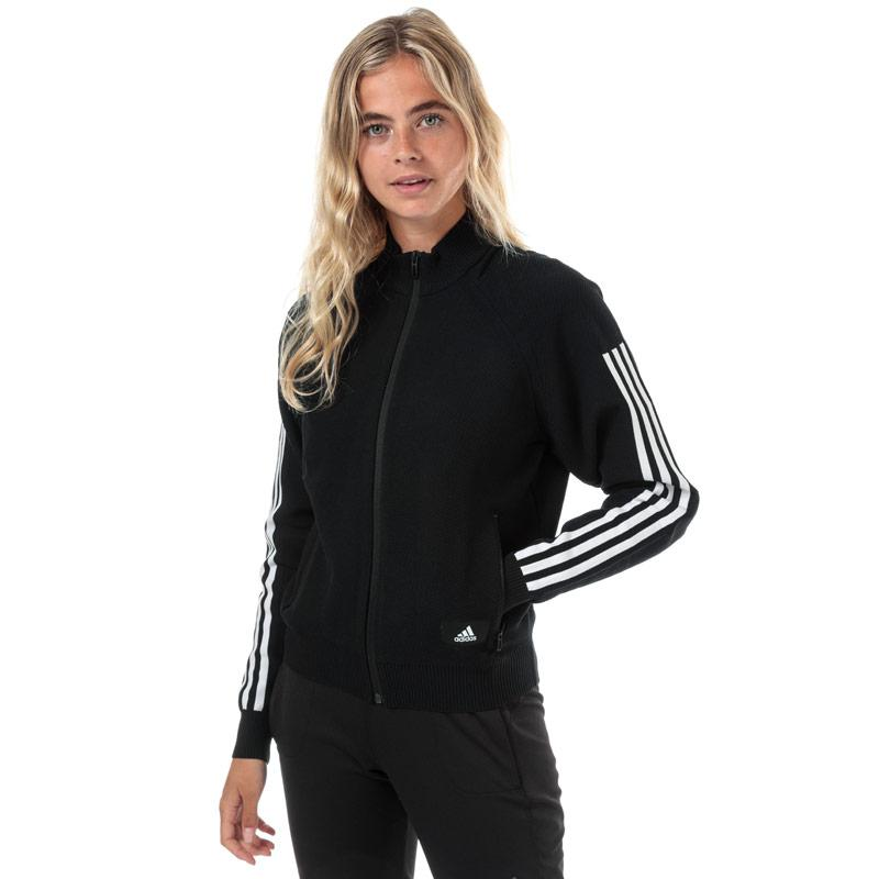 Adidas Womens ID Knit Track Top Black