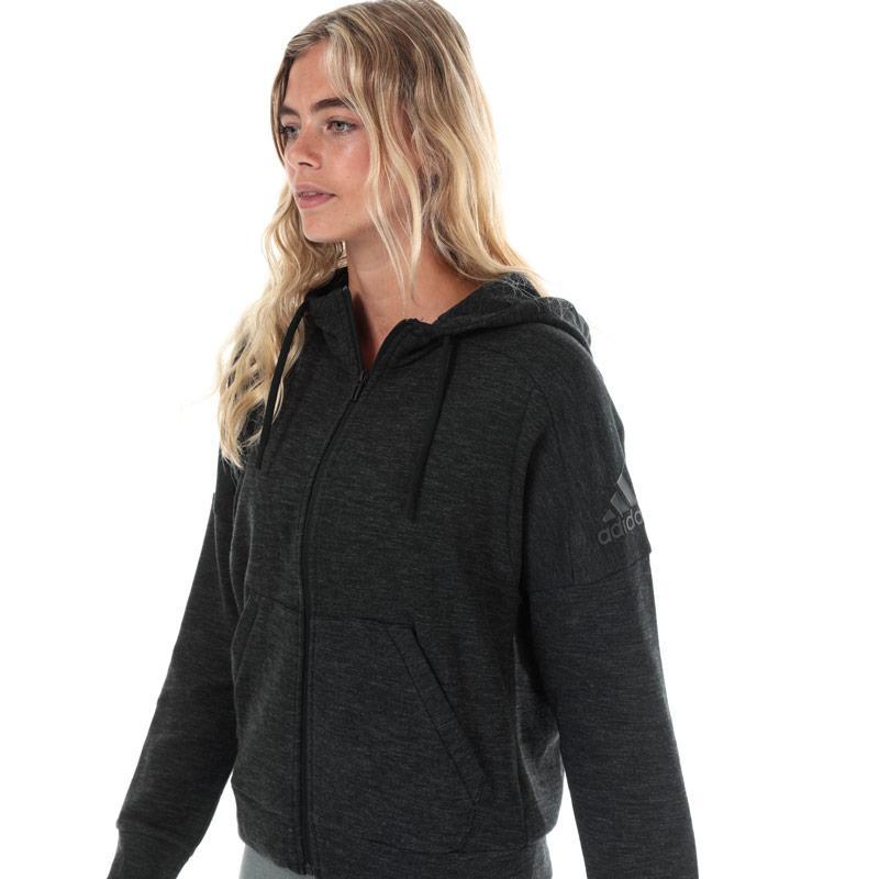 Mikina s kapucí Adidas Womens ID Melange Zip Hoody Black Grey