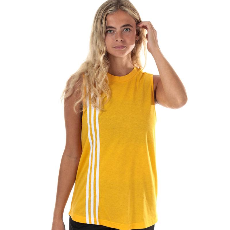 Adidas Womens Must Haves 3-Stripes Tank Top Gold