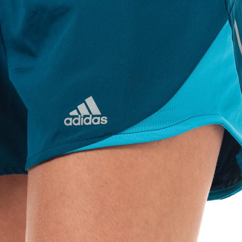 Adidas Womens Run It 4 Inch Shorts Dark Blue