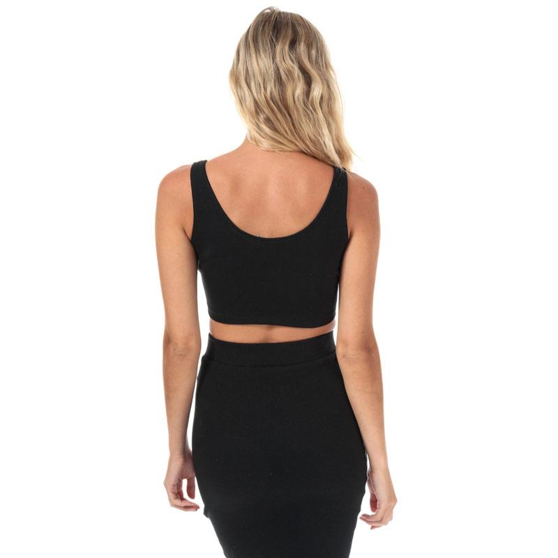 Adidas Originals Womens Styling Complements Cropped Tank Top Black
