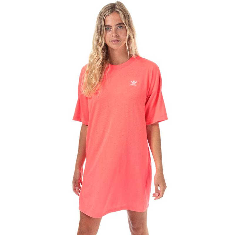 Šaty Adidas Originals Womens Trefoil Dress Coral