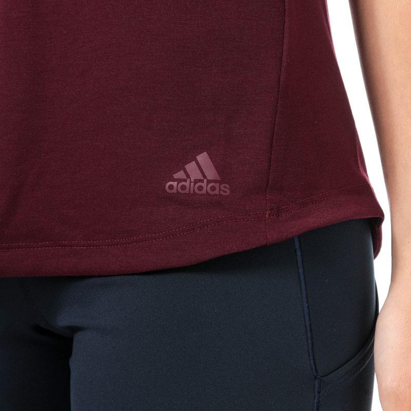 Adidas Womens x Universal Standard Performance T-Shirt Burgundy