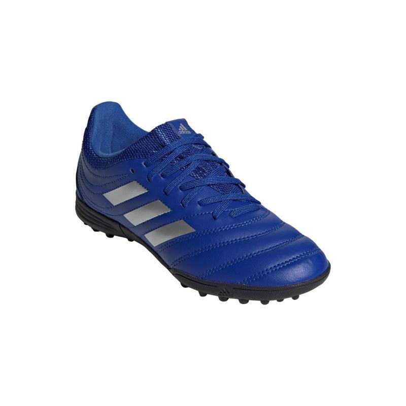 Adidas Copa 20.3 Junior Astro Turf Trainers Blue/MetSilver