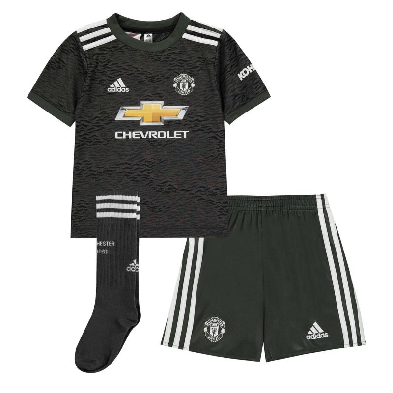 Adidas Manchester United Away Mini Kit 2020 2021 Green