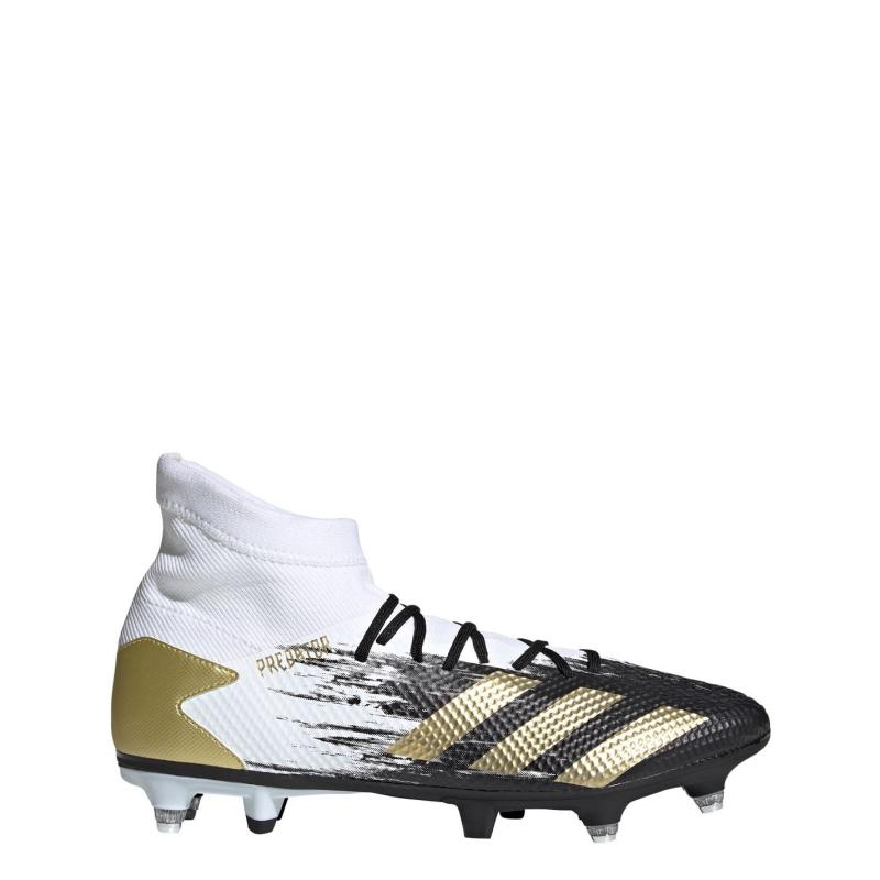 Adidas Predator 20.3 Mens SG Football Boots White/MetGold