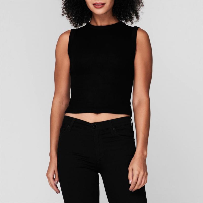 Spodní prádlo Firetrap Rib Crop Tank Top Ladies Black