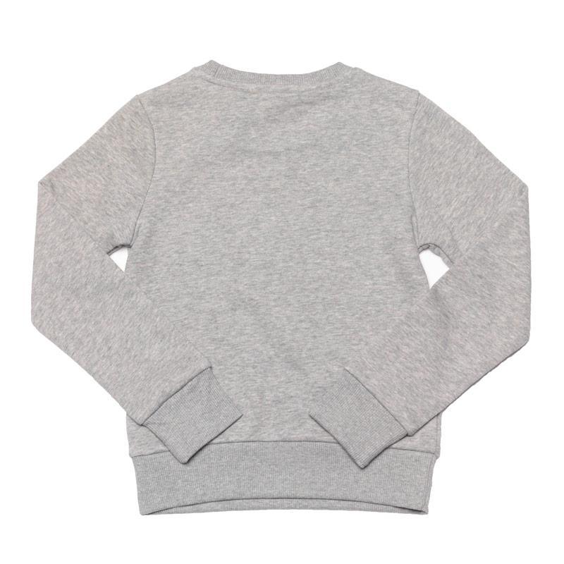 Adidas Junior Girls Linear Crew Sweatshirt Grey