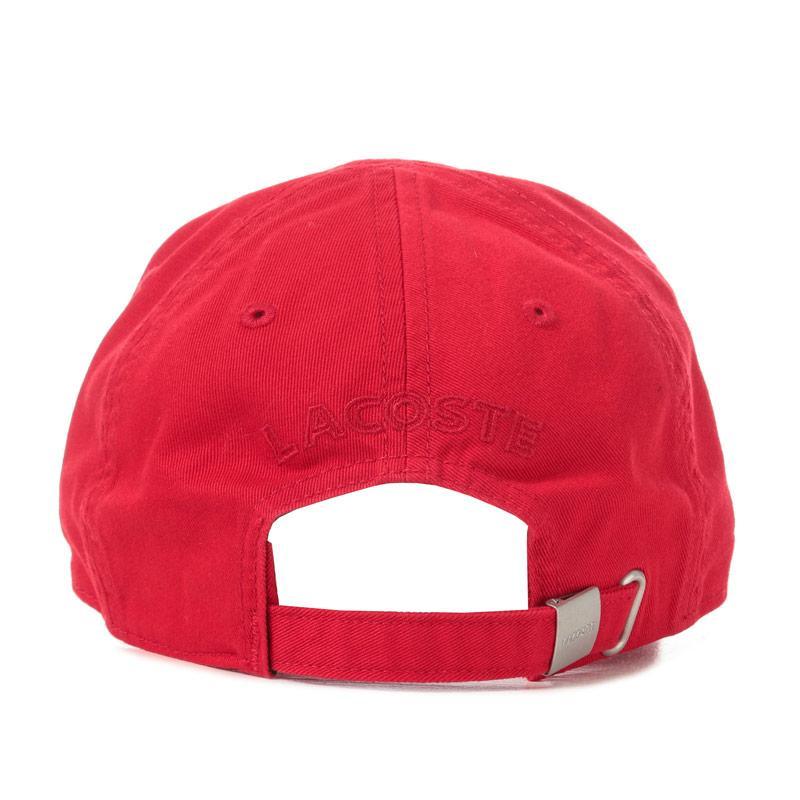 Lacoste Mens Baseball Cap Red